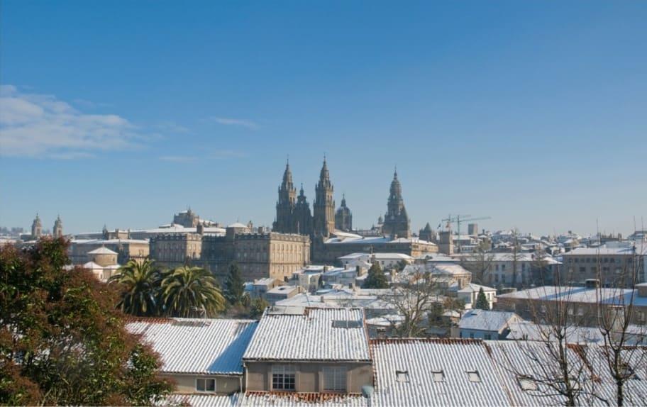Santiago di compostela con la neve