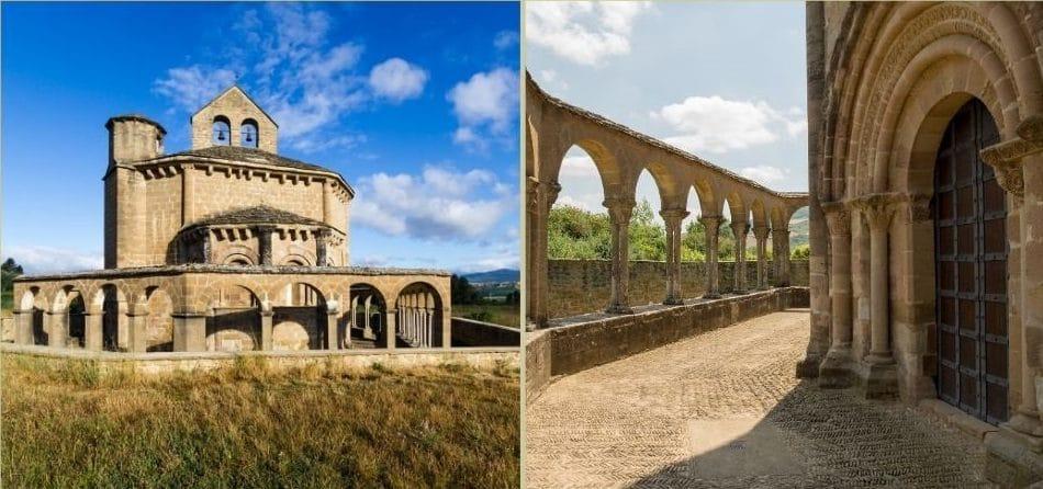 La chiesa e il portico di santa maria di eunate