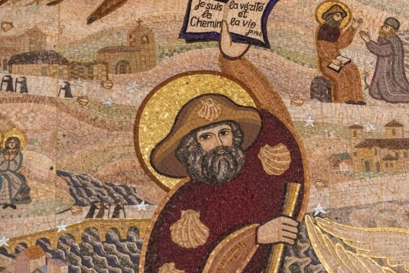 Mosaico santiago alla basilica di notre dame de fourviere a lione