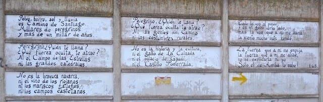Poesia scritta su un muro di najera