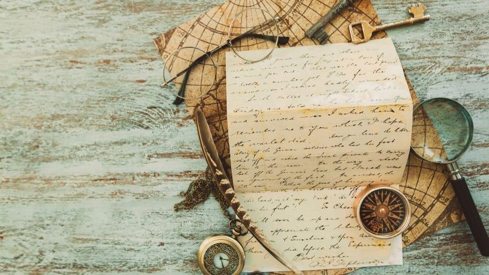 Uno scritto antico con penna d'oca