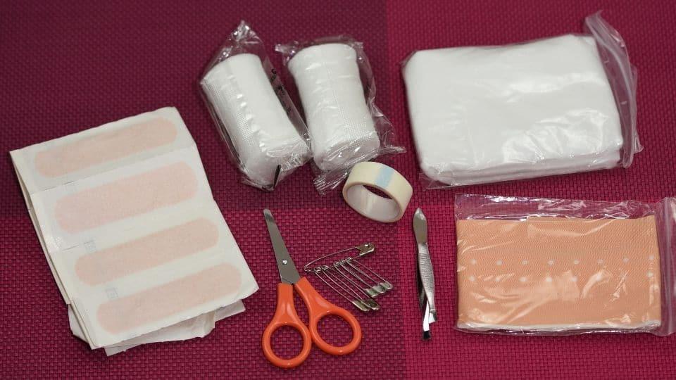 Componenti kit medico