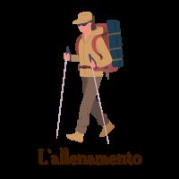 icona allenamento per il Cammino di Santiago