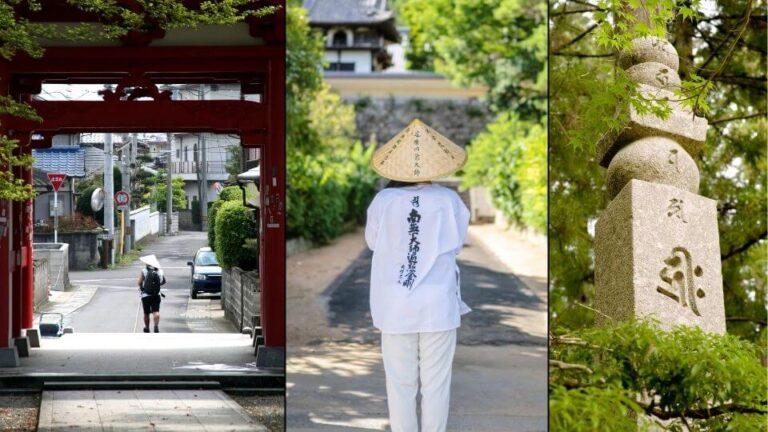 pellegrini sul pellegrinaggio di Shikoku