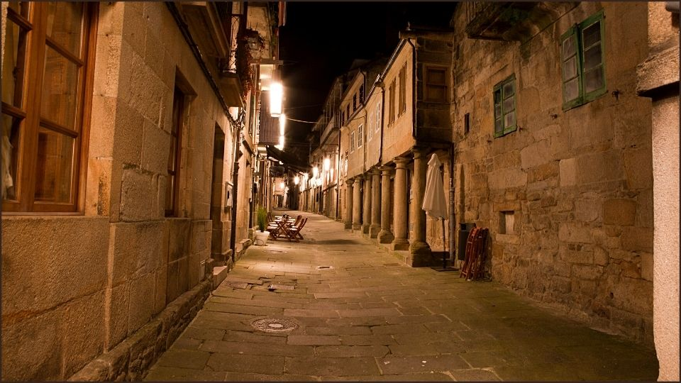 una strada del centro di Pontevedra